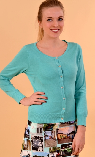 Cardigan Lucy. Sweety. Turquoise